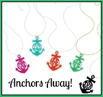 Anchor Monogram Necklace