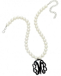 Monogram Pearl Necklace